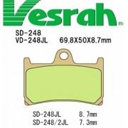 [Vesrah]베스라 VD248JL/SJL - YAMAHA TZR125R,FZR400RR,FAZER600,R6,FAZER1,ROADSTAR,ROADLINER 기타 그 외 기종 -오토바이 브레이크 패드