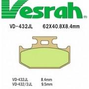 [Vesrah]베스라 VD432JL/SJL - SUZUKI RM125,DR250,YAMAHA WR125,TRICKER,KAWASAKI KX250 기타 그 외 기종 -오토바이 브레이크 패드