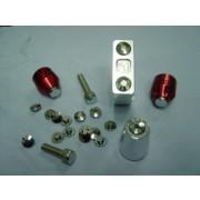 XRT M8m 육각 렌치 볼트 캡  원형  크롬(4EA) (1SET)