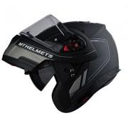 MT헬멧 ATOM(아톰) RACELINE EVO 시스템 헬멧 맷블랙/그레이 - 핀락 무상 증정/선바이저 내장형
