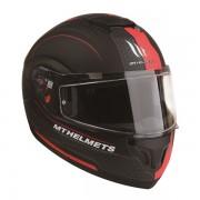 MT헬멧 ATOM(아톰) RACELINE EVO 시스템 헬멧 맷블랙/레드 - 핀락 무상 증정/선바이저 내장형