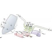 SV125B.SV125D 핸들커버(앞)(무광흑색)