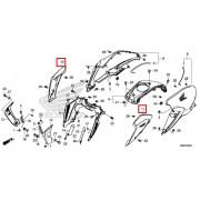 CB125R 슈라우드 라디에이터커버(은색)
