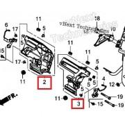 PCX125(18~19) 커버브라켓(앞)좌측(LH)50312-K97-T00 우측(RH)50311-K97-T00